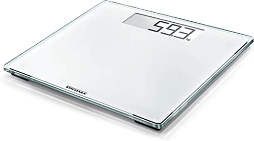 Soehnle Style Sense Comfort 100 White Bathroom Scale, digital scale with large weighing surface, weighs up to 180 kg,...