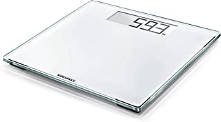 Soehnle Style Sense Comfort 100 White Bathroom Scale, digital scale with large weighing surface, weighs up to 180 kg, elec...