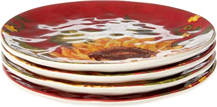 Certified International Sunset Sunflower Dinnerware, Tableware, Dishes, One Size, Multicolor