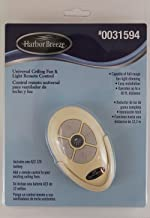Litex Harbor Breeze Universal Ceiling Fan & Light Remote Control + Receiver and Battery #0031594 - Color: Ivory