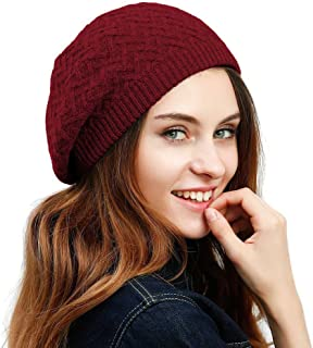 d9847a46feb99 JULY SHEEP Women s Lady Knitted Beret hat Merino Wool Braided hat French  Beret for Winter Autumn