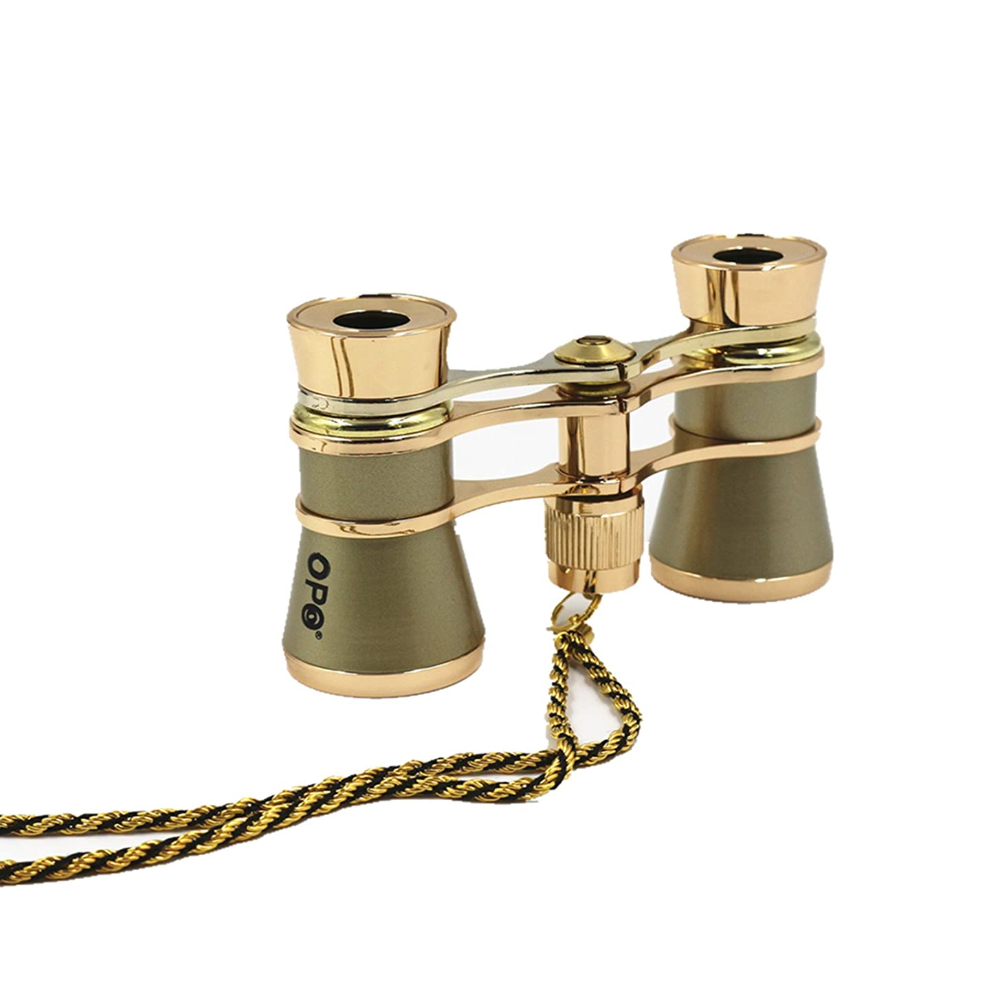 Opera Glasses Compact Binoculars for Theater Horse Racing Classical Lady Gift 3X25 with Gold Chain