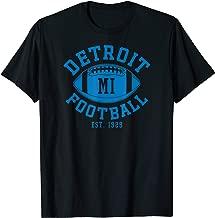 Detroit Football Vintage Michigan Retro Lion Gift T-Shirt