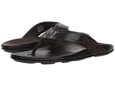 OluKai Kulia (Black/Black) Men