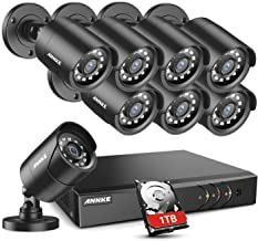 ANNKE Home Security Camera System 8 Channel 1080P Lite Wired DVR and 8X 1080P HD Outdoor..