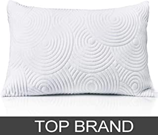 Shredded Memory Foam Bed Pillow for Sleeping- Adjustable to Thick Thin with Cool Cotton Cover - Cooling Sleeping for Side Back Sleepers - Soft Firm Support Therapeutic Neck Pain, Art Standard