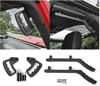 Front & Rear Aluminum Grab Handles Grip Handle Grab Bars for Jeep Wrangler JK JKU Sports Sahara Freedom Rubicon X & Unlimited X 2 Door 4 Door 2007-2018