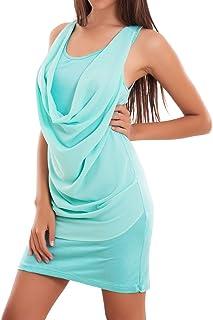 Vestiti Eleganti Verde Acqua.Amazon It Top Verde Acqua Vestiti Donna Abbigliamento