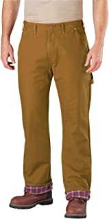 Dickies Men's Relaxed Straight fit Flannel-Lined Carpenter Jean