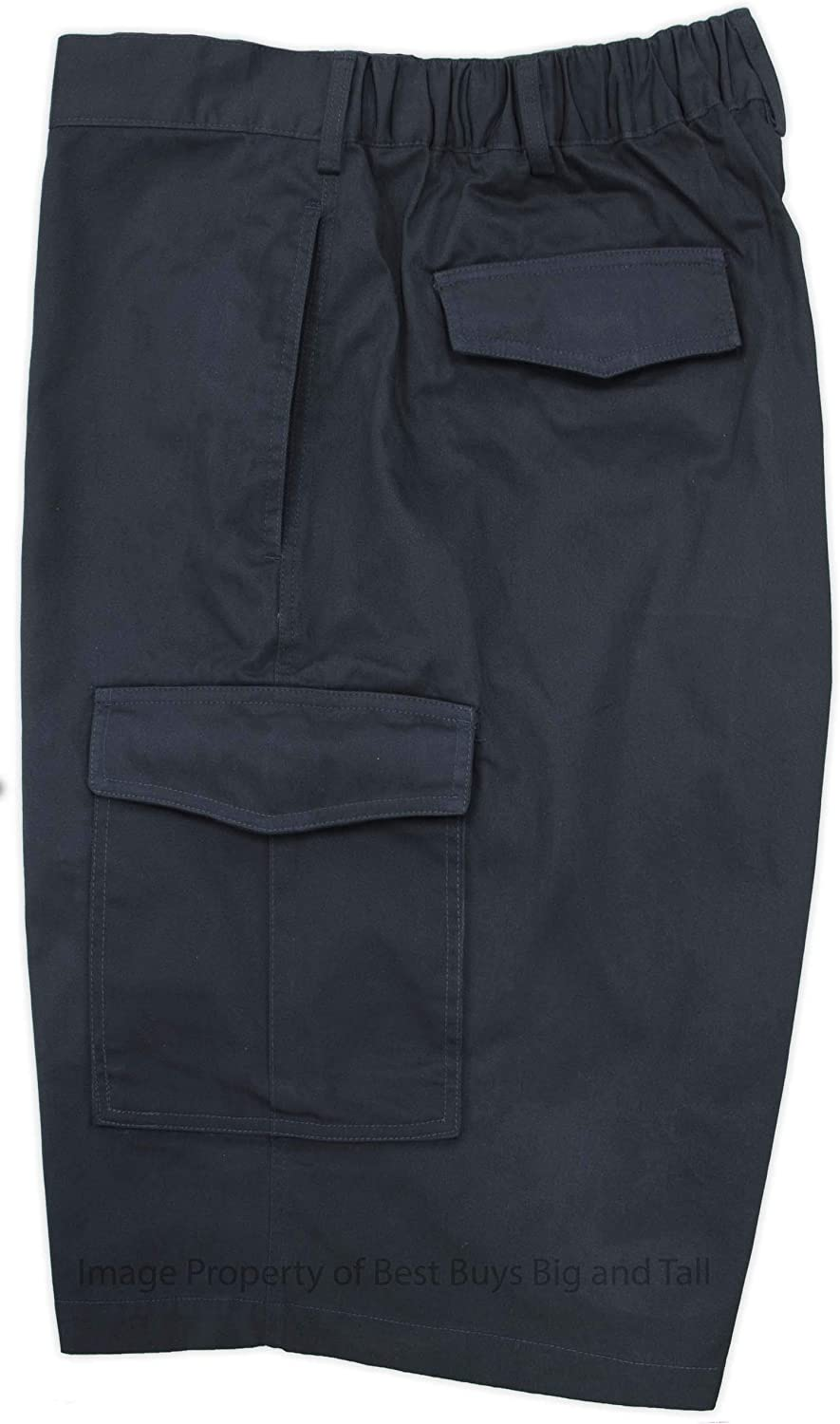 Falcon Bay Big & Tall Men's Cargo Shorts with Expandable Comfort Waistband
