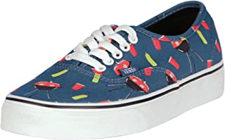 Vans Womens Authentic Canvas Low Top Lace Up Fashion Sneaker,  Blue,  Size 9.0