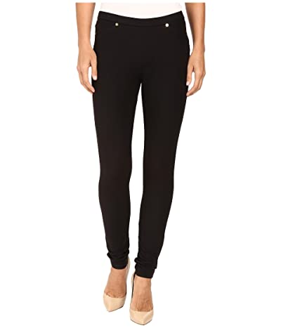 MICHAEL Michael Kors Solid Pull-On Leggings (Black) Women