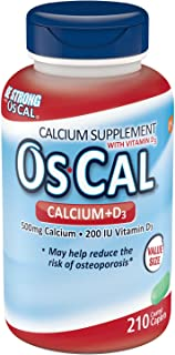 Os-Cal 500 D Calcium D3 200 I.U Coated Caplets, 210 Count