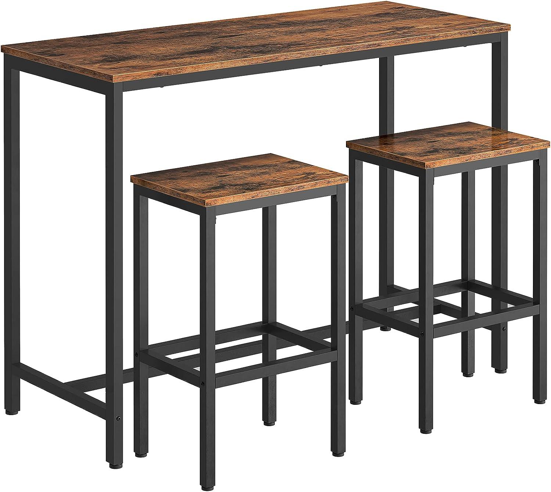 HOOBRO Bar Table Set, Bar Table with Bar Stool, Table and Stool ...