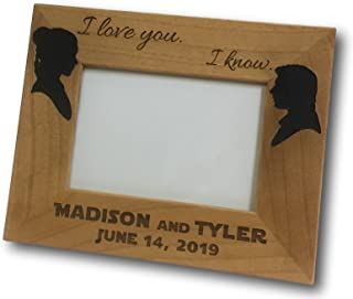 Award Zone I Love You I Know Picture Frame, Personalized, for 4