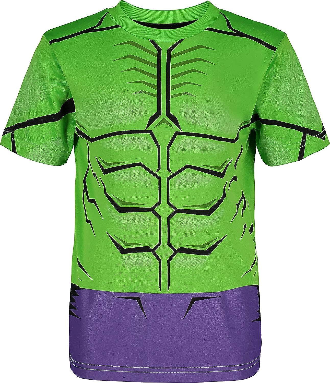 Marvel Avengers Boys Character Athletic T-Shirt /& Mesh Shorts Set