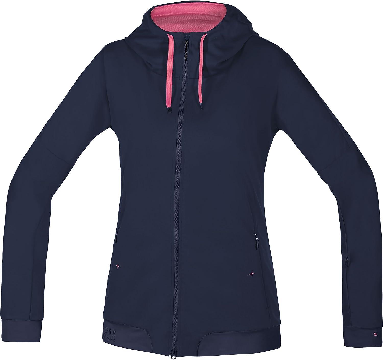 Gore Bike WEAR Women's Warm Soft Shell Hooded Mountainbike Jacket, Gore Windstopper, PowerTrail Lady WS SO Hoody, Size 38, Jazzy Pink Giro Pink, SWHFLO