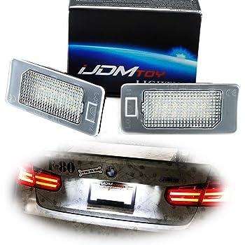 2X FOR BMW 5 SERIES E60 E61 E39 M5 ALUMINIUM 2 CREE WHITE LED NUMBER PLATE LAMP