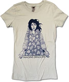Imagine Dragons Girl Platinum Juniors Grey T Shirt