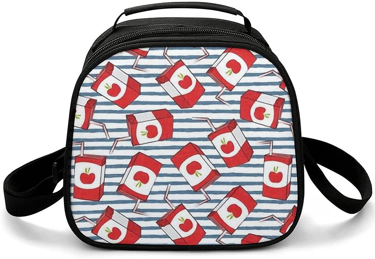 Apple juice boxes blue stripes back Max 55% OFF Bag Lunch to Ranking TOP11 Cooler school B