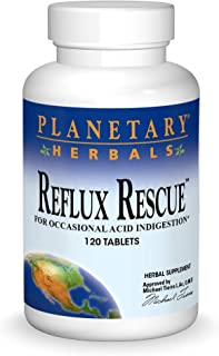 PLANETARY HERBALS Reflux Rescue for Occasional Acid Indigestion, 120 Count