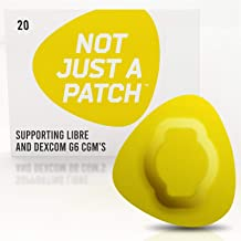 NOT JUST A PATCH - Freestyle Adhesive Patches Libre Sensor - Patches Dex-com CGM Adhesive Patch G6 - Hypoallergenic Waterproof Adhesive - 20pack Patch Adhesive - Diabetic Adhesive Patch CGM - Yellow