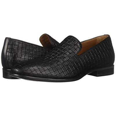 Aquatalia Aiden (Black Embossed Calf) Men