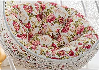 Hanging Chair Cushions,Hanging Egg Hammock Chair Pads, Without Stand Multi Color Swing Seat Cushion Thick Nest Hanging Chair Back with Pillow (Color : C, Size : 105cm(41inch))