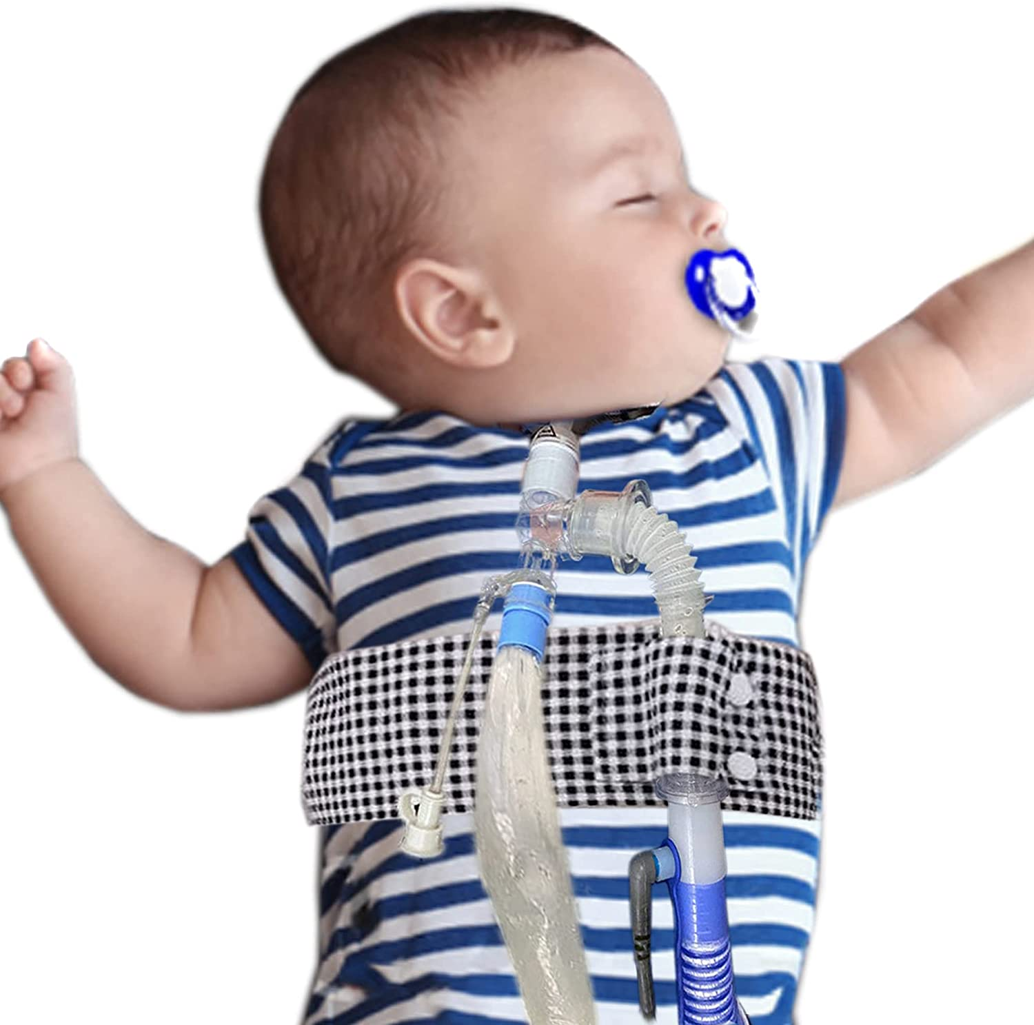 Adjustable Trach and Vent Circuit Belt Prevent Pulling The Circuit for Babies Children Kids