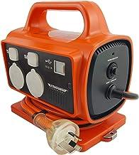 UR115/5RU ULTRACHARGE 3X10a -2X15a Sockets -15A Plug RCD Portable Power Block 3X 15A and 2X 15A Sockets, 1X 15A Plug