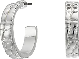 Croc Pattern Hoop Earrings
