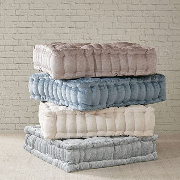 Intelligent Design Azza Poly Chenille Square Floor Pillow Cushion 20 X20 X5 Blush