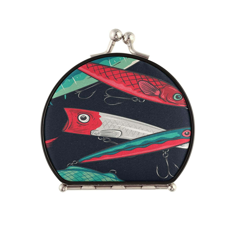 Miami Mall CompactMirrorArt Cattoon Beautiful Cute Fish Now free shipping Striped Portable