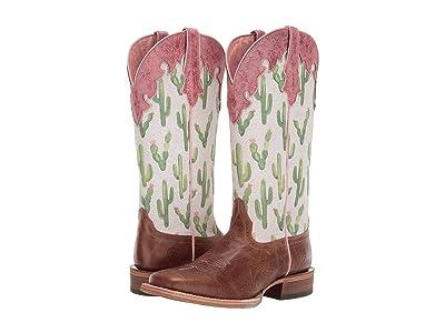 Ariat Fonda (Dark Tan/Cactus Print) Cowboy Boots