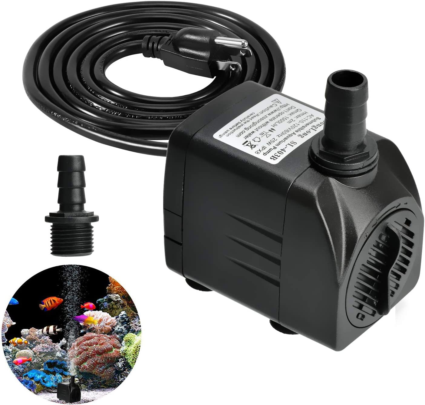 Easily Life Submersible famous Aquarium Water Outdoor High order Fou Pump Durable