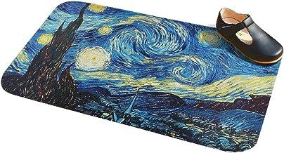 Cennbie Non-slip Bath Mat Super Soft Bathroom Rugs Soft Absorbent Bath Rugs, 60cm W X 39cm L(Starry Night )