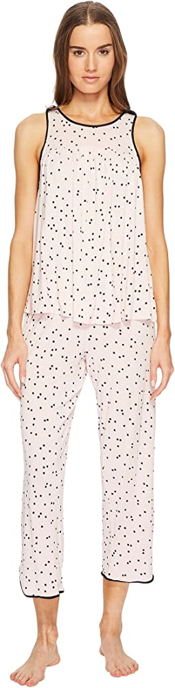 Kate Spade New York - Scattered Dot Cropped PJ Set