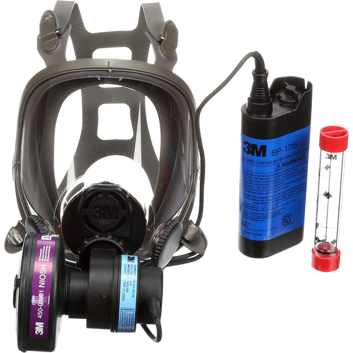 3M Powerflow Powered Air Purifying Respirator 1 Popular brand in the world year warranty Face-M 6900PF Kit