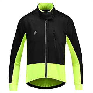 KORAMAN Winter Warm Cycling Jacket Reflective Thermal Fleece Breathable Windproof Bike Biking Jacket