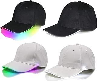 LED Baseball Mütze Base Cap mit Licht für Festivals, Clubs, Hip Hop Techno Party, größenverstellbar, Leuchtkappe Schirmmütze für Camping Outdoor, Unisex für Herren und Damen