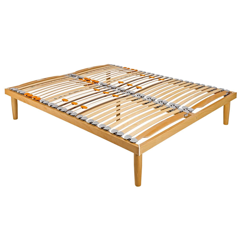 - Goldflex - Somier ortopédico fijo de láminas de madera, apto para camas matrimoniales. Dimensiones: 160 x 190 cm. Modelo técnico, reforzado en el ...