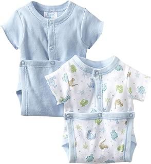 Spasilk Baby 2 Pack Cotton Short Sleeve Wrap Bodysuits