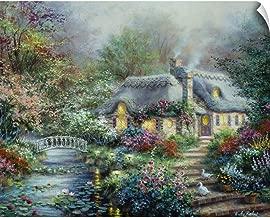 CANVAS ON DEMAND Little River Cottage Wall Peel Art Print, 14