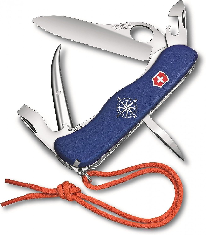 Victorinox Taschenmesser Skipper Pro mit Nylonkordel, Nylonkordel, Nylonkordel, 12 Funktionen, Feststellklinge Wellenschliff, Marlspieker, blau B07DP33XLV | Ausgezeichnete Qualität  f4b720