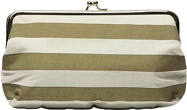 C.R. Gibson Wedding Day Travel Emergency Kit Clutch, Gold Stripe, One Size