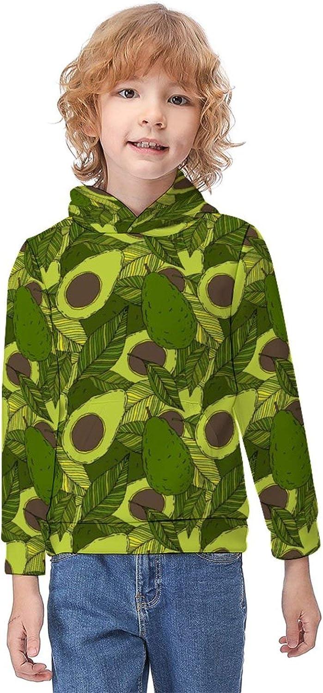 Children's Clothes Sweatshirts Boys Girls Hoodies Printed Premium Hooded T-Shirts with Kangaroo Pocket for Sports Travel