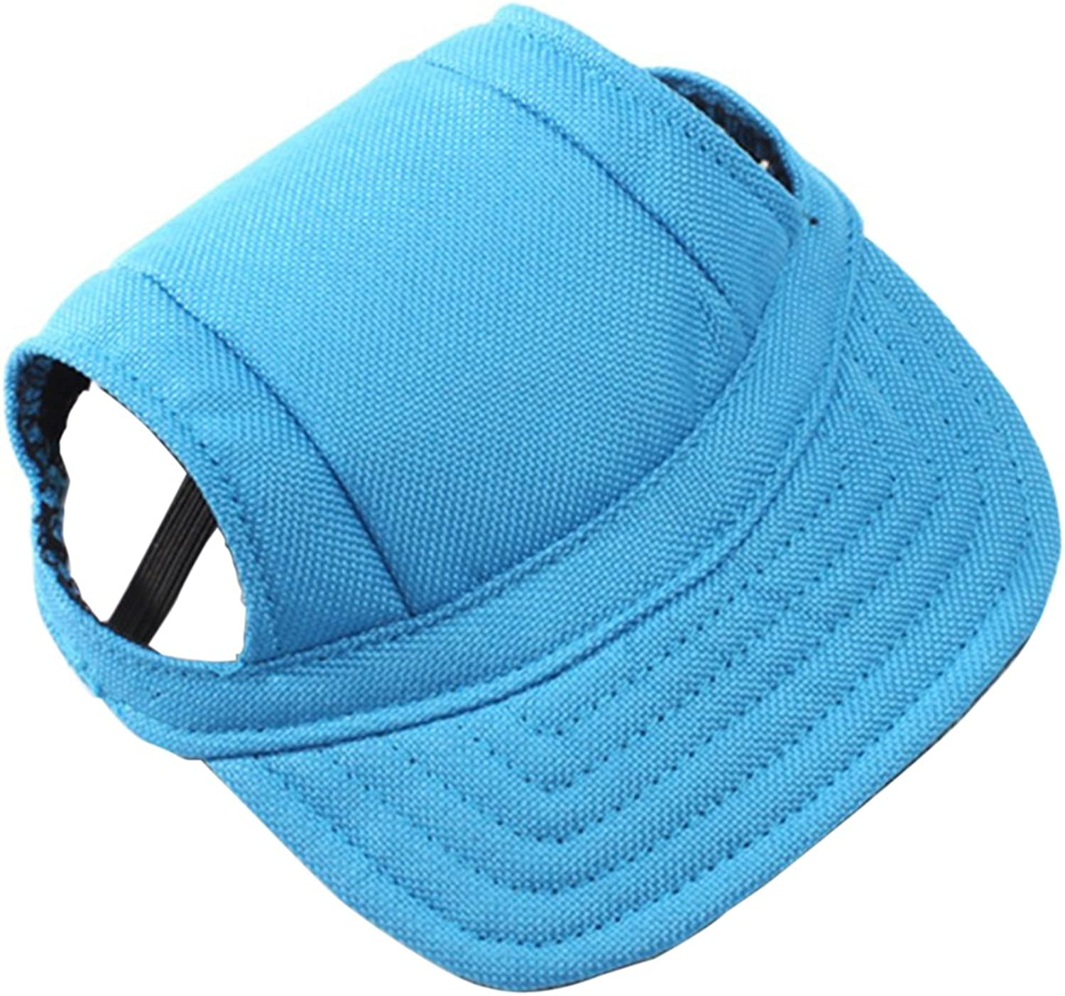 BUYITNOW Pet Sun Hat with Ear Holes Adjustable Baseball Cap for Small Dogs