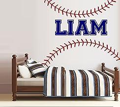 "Baseball Laces: Custom Name Wall Decal Measures 30"" x 40"" (Custom)"