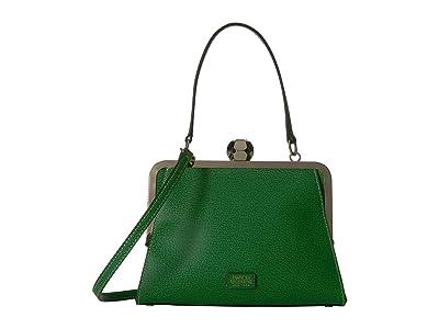 Frances Valentine Small Jackie Frame Bag (Green) Satchel Handbags