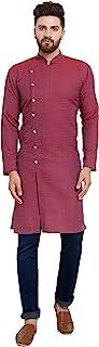 Jompers Men's Cotton Jacquard Kurta